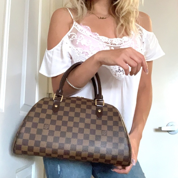 Louis Vuitton Handbags - Louis Vuitton Ribera MM Damier Ebene Satchel Bag